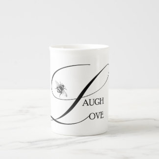 Live, Laugh, Live Inspirational Words & Bumble Bee Tea Cup