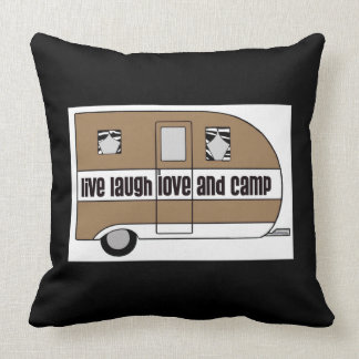 """Live, Laugh, Love and Camp"" Cushion"