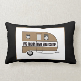 """Live, Laugh, Love and Camp"" Lumbar Cushion"