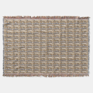 """""""Live, Laugh, Love and Camp"""" Throw Blanket"""