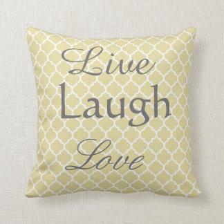 Live Laugh Love Arabesque Pillow Throw Cushions