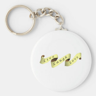 Live Laugh Love Banner Keychains