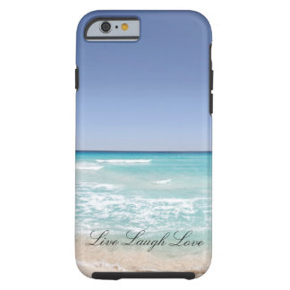 Live Laugh Love Beach Ocean Phone Case