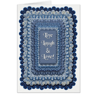 LIVE, LAUGH, LOVE - BLANK NOTE CARD
