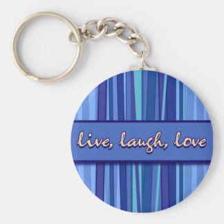 Live Laugh Love Blue Mother's Day Keychain