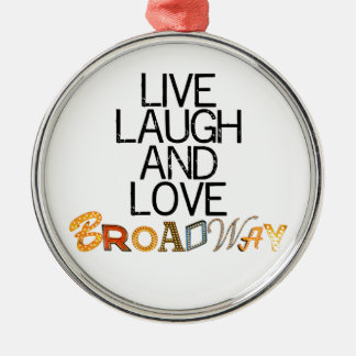 Live Laugh & Love Broadway Silver-Colored Round Decoration