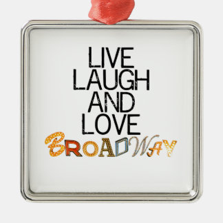 Live Laugh & Love Broadway Silver-Colored Square Decoration