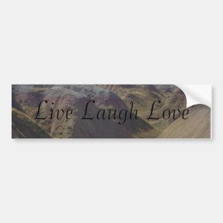 Live Laugh Love Bumpersticker Car Bumper Sticker