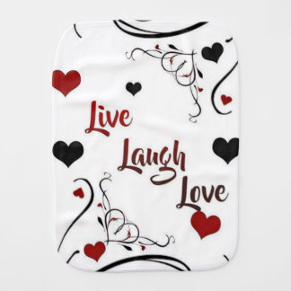 Live Laugh Love Burp Cloth