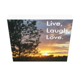 Live, Laugh, Love canvas Canvas Prints