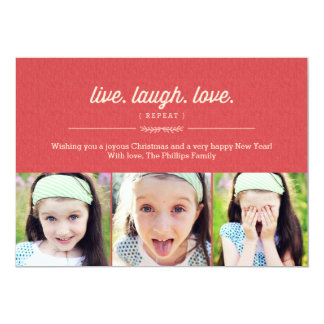 Live Laugh Love Christmas Card/ Holiday Photo Card