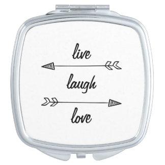 Live, Laugh, Love Compact Mirror