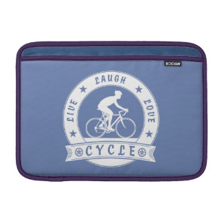 Live Laugh Love Cycle (wht circle) Sleeve For MacBook Air