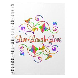 Live Laugh Love Flourish Notebooks