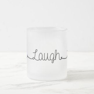 live laugh love frosted glass coffee mug