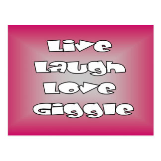 Live laugh love giggle stamps and cards postcard