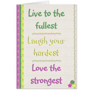 Live, Laugh, Love Greeting Card