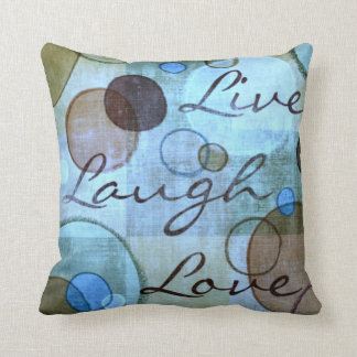 Live Laugh Love grungy throw pillow