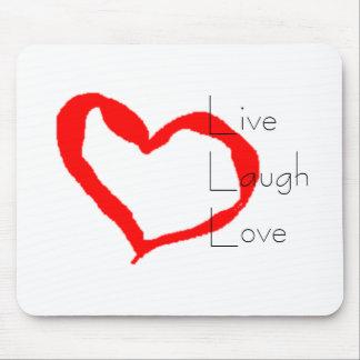 Live Laugh Love Heart Mouse Pad