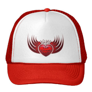 LIVE LAUGH LOVE HEART WINGS HAT