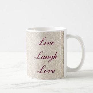 Live Laugh Love Ivory Lace Mug
