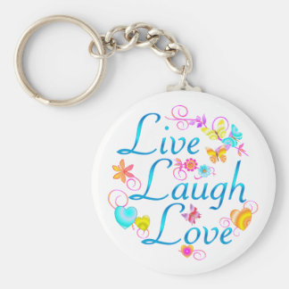 Live, Laugh, Love Keychains