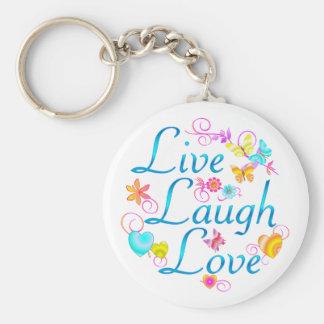 Live, Laugh, Love Key Ring