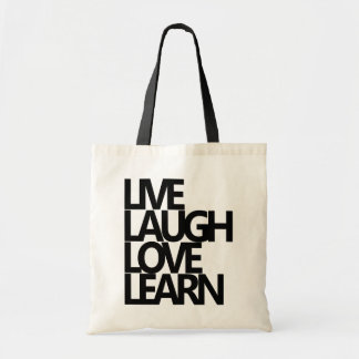 LIVE LAUGH LOVE LEARN TOTE BAG