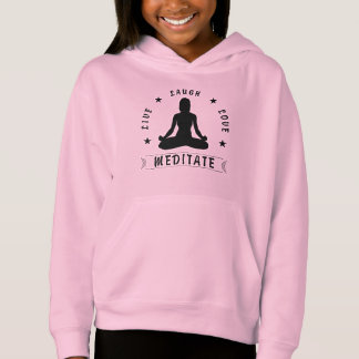 Live Laugh Love Meditate Female Text (blk)
