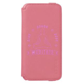 Live Laugh Love Meditate Female Text (neon) Incipio Watson™ iPhone 6 Wallet Case