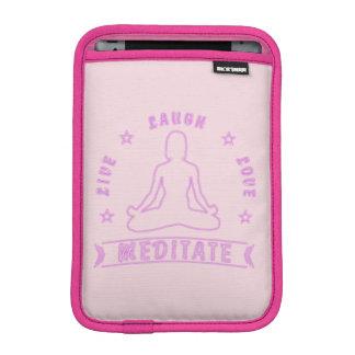 Live Laugh Love Meditate Female Text (neon) iPad Mini Sleeve