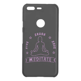 Live Laugh Love Meditate Female Text (neon) Uncommon Google Pixel Case
