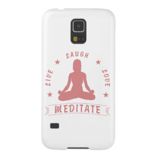 Live Laugh Love Meditate Female Text (pink) Cases For Galaxy S5