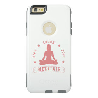 Live Laugh Love Meditate Female Text (pink) OtterBox iPhone 6/6s Plus Case