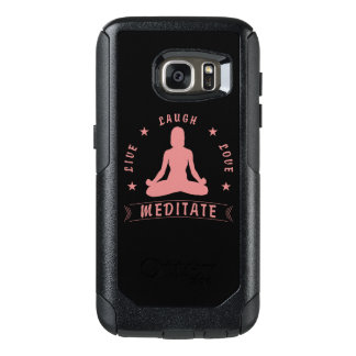 Live Laugh Love Meditate Female Text (pink) OtterBox Samsung Galaxy S7 Case