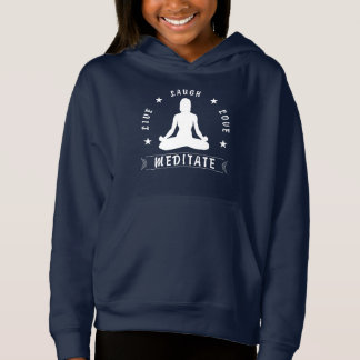 Live Laugh Love Meditate Female Text (wht)