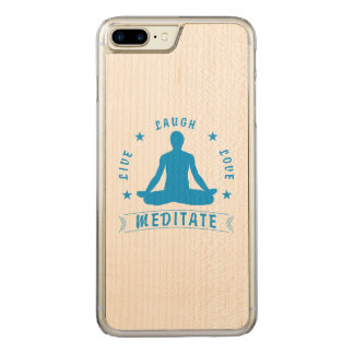 Live Laugh Love Meditate Male Text (blue) Carved iPhone 8 Plus/7 Plus Case