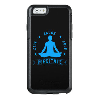 Live Laugh Love Meditate Male Text (blue) OtterBox iPhone 6/6s Case