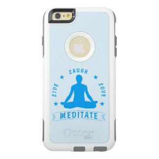 Live Laugh Love Meditate Male Text (blue) OtterBox iPhone 6/6s Plus Case