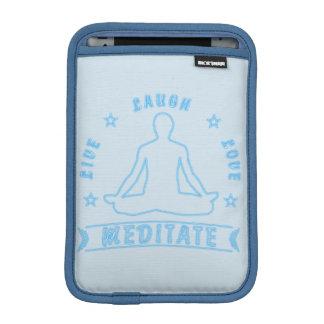 Live Laugh Love Meditate Male Text (neon) iPad Mini Sleeve