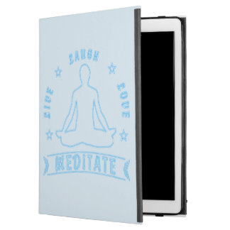 "Live Laugh Love Meditate Male Text (neon) iPad Pro 12.9"" Case"