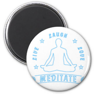 Live Laugh Love Meditate Male Text (neon) Magnet