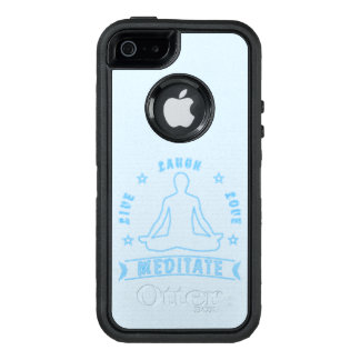 Live Laugh Love Meditate Male Text (neon) OtterBox Defender iPhone Case