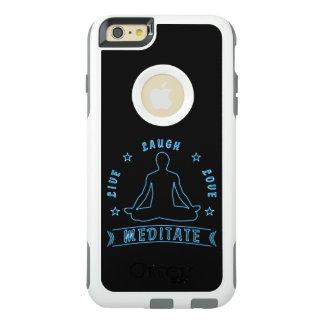 Live Laugh Love Meditate Male Text (neon) OtterBox iPhone 6/6s Plus Case