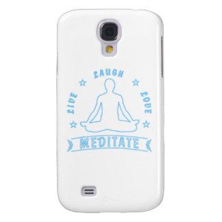 Live Laugh Love Meditate Male Text (neon) Samsung Galaxy S4 Case