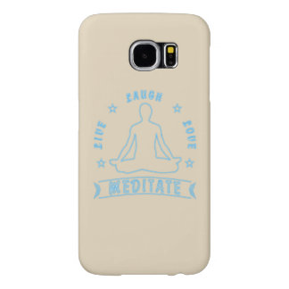 Live Laugh Love Meditate Male Text (neon) Samsung Galaxy S6 Cases