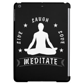Live Laugh Love Meditate Male Text (wht)