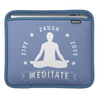 Live Laugh Love Meditate Male Text (wht) iPad Sleeve