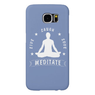 Live Laugh Love Meditate Male Text (wht) Samsung Galaxy S6 Cases