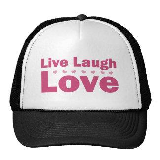 Live Laugh Love Mesh Hats